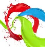 La vernice colorata spruzza royalty illustrazione gratis