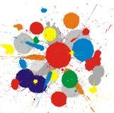 La vernice di colore spruzza la priorità bassa royalty illustrazione gratis