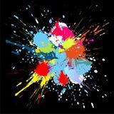 La vernice di colore spruzza. Priorità bassa di vettore di gradiente Fotografia Stock Libera da Diritti