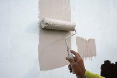 La vernice esterna con aroller. Immagini Stock Libere da Diritti