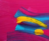 La vernice luminosa di colori segna l'arte Immagini Stock