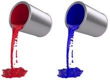 La vernice può versando fuori Fotografia Stock