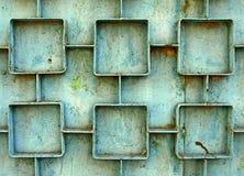 La vernice verde incrinata Fotografia Stock