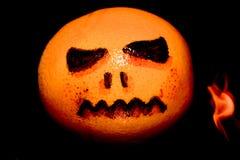 La versione economica di Halloween ha disegnato la zucca Fotografia Stock