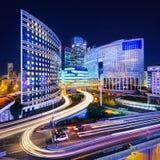 La-Verteidigung nachts, Paris Stockfoto