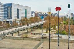 La-Verteidigung Paris und Geschäftsbereich und Architektur Lizenzfreies Stockfoto