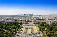La-Verteidigungsbezirk und Trocadero-Platz, Paris, Frankreich Lizenzfreies Stockfoto