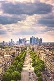 La-VerteidigungsGeschäftsbereich, große Armee-Allee Paris, Frankreich Stockfoto