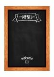 La vertical aisló la pizarra del menú para los cafés y los restaurantes Marco de madera realista Vector Foto de archivo libre de regalías