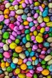 La vertical fijó los paneles coloridos de caramelos esmaltó la base festiva brillante verde amarilla del diseño de la lila foto de archivo libre de regalías