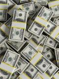 La verticale argent des 100 dollars divise en lots le fond illustration 3D Images libres de droits