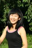 La verticale chinoise de jeunes femmes Photos libres de droits