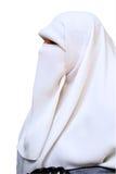 La verticale de l'Arabe sur le fond blanc Images libres de droits