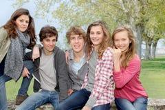 La verticale des adolescents Photographie stock libre de droits