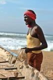 La verticale du pêcheur indien Image libre de droits