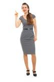 La verticale intégrale du femme d'affaires a eu l'idée Images libres de droits