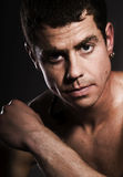 La verticale mâle. Photo stock