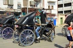La vettura è pronta per i turisti Fotografia Stock Libera da Diritti
