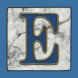 La via classica iconica storica di New Orleans piastrella i numeri & i simboli di lerciume dell'alfabeto della lettera del marcia illustrazione vettoriale