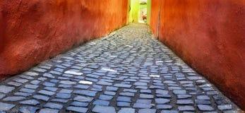 La via di Brasov Fotografia Stock