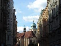 La via di Praga Fotografia Stock Libera da Diritti