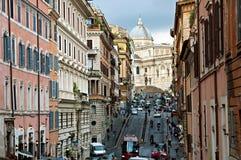 La via di Roma Fotografia Stock
