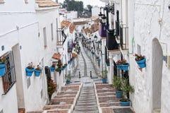 La via di San Sebastian a Mijas su Costa Del Sol Andalucia, Spagna Fotografie Stock