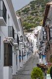 La via di San Sebastian a Mijas su Costa Del Sol Andalucia, Spagna Fotografia Stock Libera da Diritti