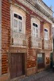 La via e le case, Alter fanno Chao, regione di Beiras, Fotografia Stock Libera da Diritti