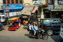 La via in India Immagini Stock