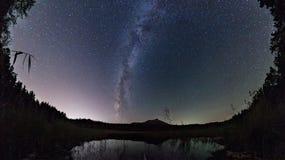 La Via Lattea sopra il lago Fotografia Stock Libera da Diritti
