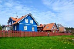 La via in Nida, Lituania fotografia stock