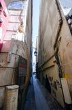 La via più stretta a Parigi Fotografia Stock