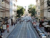 La via a Praga Fotografie Stock