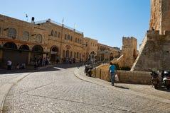 La via principale a Gerusalemme Fotografie Stock