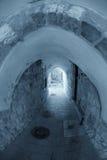 La via stretta nel quarto arabo di vecchia C Fotografia Stock Libera da Diritti