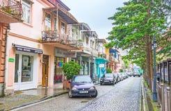La via tipica di Batumi Immagine Stock