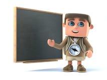 la viandante 3d insegna a Immagini Stock