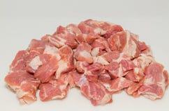 La viande a coupé en cubes photographie stock libre de droits