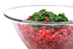 la viande hachent photographie stock libre de droits