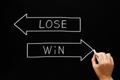 La victoire perdent le concept de flèches Image stock