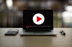 La vid?o audio de VENTE VISUELLE, lancent les canaux sur le march? interactifs, concept de technologie de vente d'innovation de t images stock