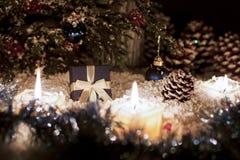 La vida de la Navidad sigue siendo con nieve Fotografía de archivo libre de regalías