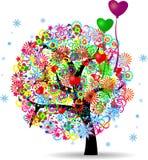 La vida del árbol con los globos Fotografía de archivo