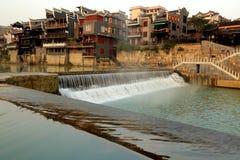 La vida en el campo de la ciudad antigua de Qianzhou Fotografía de archivo