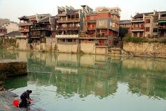 La vida en el campo de la ciudad antigua de Qianzhou Imágenes de archivo libres de regalías