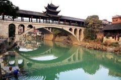 La vida en el campo de la ciudad antigua de Qianzhou Imagen de archivo