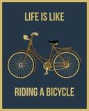 La vida es como montar una bicicleta Imagenes de archivo