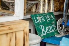 La vida es una playa Imagenes de archivo