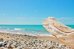 La ?vida es una playa? Foto de archivo